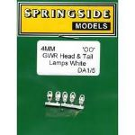 Springside DA1 - OO Scale GWR Head & Tail Lamps White (5)